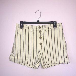 Madewell Emmett Button Front Shorts in Stripe